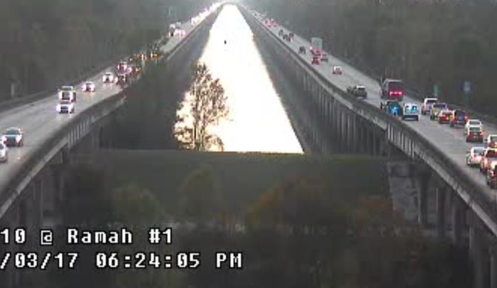Accident causes congestion near Ramah exit on I10 West