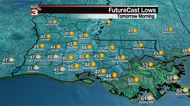Friday Morning Lows