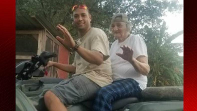Missing 83-year-old Leroy Blaze with relative / Channa Blaze