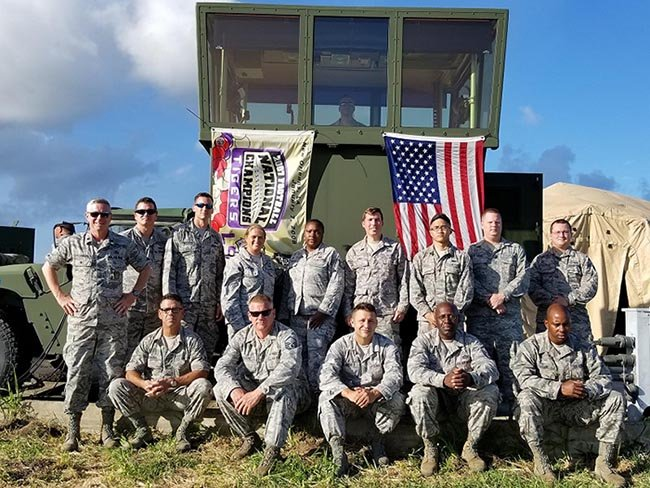 Louisiana National Guard Airmen of the 259th Air Traffic Control Squadron, headquartered in Alexandria, Louisiana, manned the non-towered airport José Aponte de la Torre in Ceiba, Puerto Rico, where they ran 24-hour operations and eventually 12-hour opera