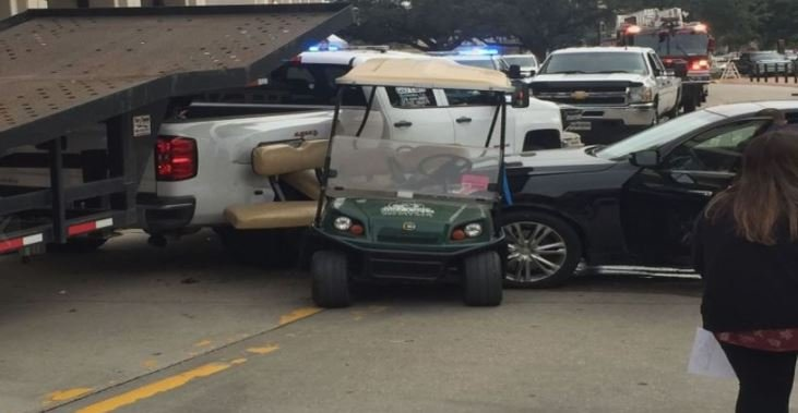 LSU students hurt in golf cart accident in Baton Rouge / Courtesy of WBRZ