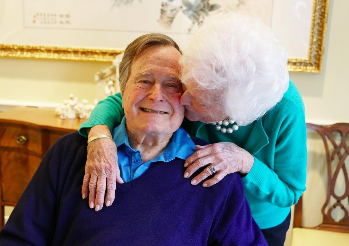 George HW Bush becomes the longest-living president