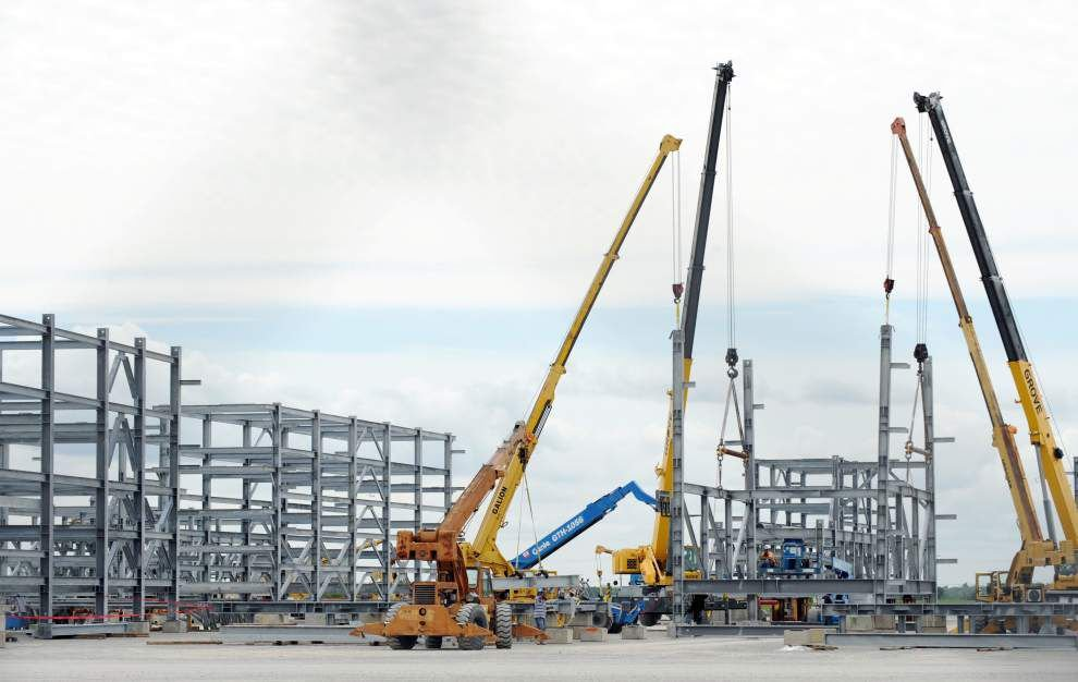 Work on part of the Sasol ethane cracker project in Westlake is underway at Dynamic Industries at the Port of Iberia Wednesday, April 6, 2016, in New Iberia. Leslie Westbrook/The Advocate
