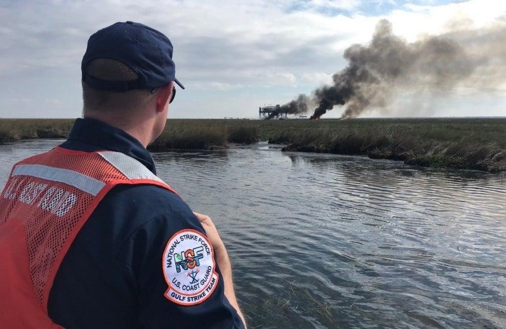 Coast Guard continues oil discharge investigation  / Courtesy: U.S. Coast Guard