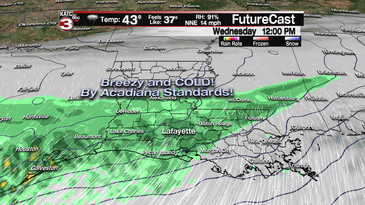 Cold, Gloomy, Soggy Wednesday-Friday!