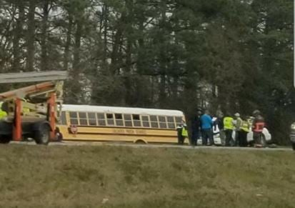 Calcasieu Parish School bus crash on I-10  / Kiesha Trahan