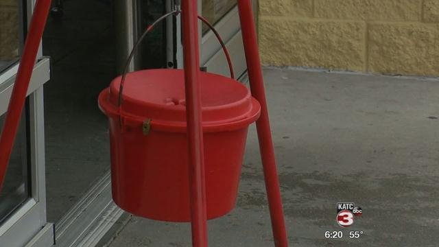 Salvation Red Kettles now  down 20 percent