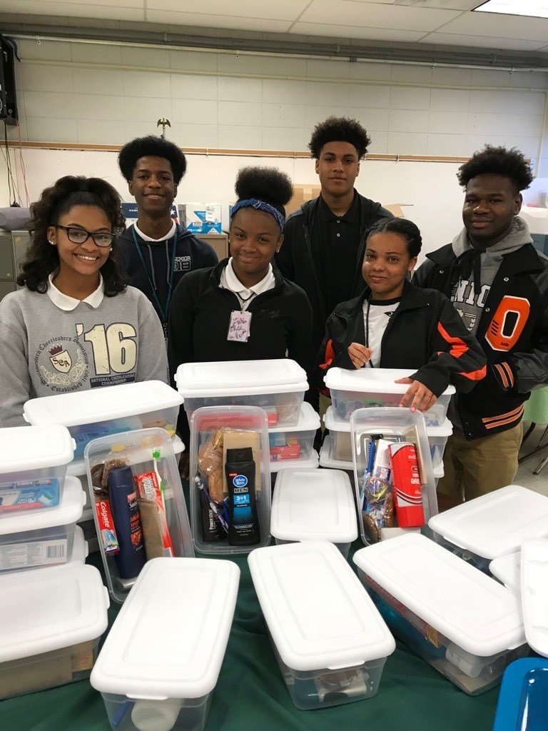 Some Opelousas High students are volunteering their time for a good cause / Courtesy: Kathryn Cosgrove/Opelousas High School