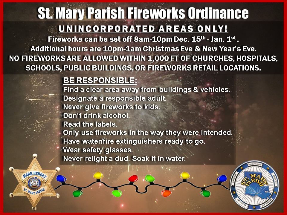 Courtesy of the St. Mary Parish Sheriff's Department