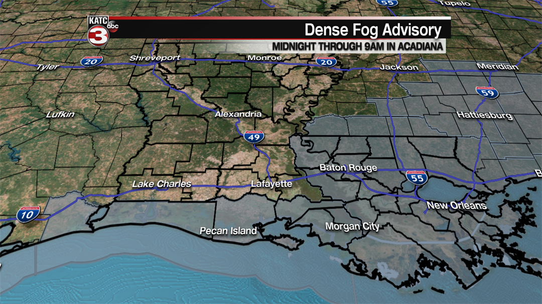 Friday: Dense fog, holiday forecast