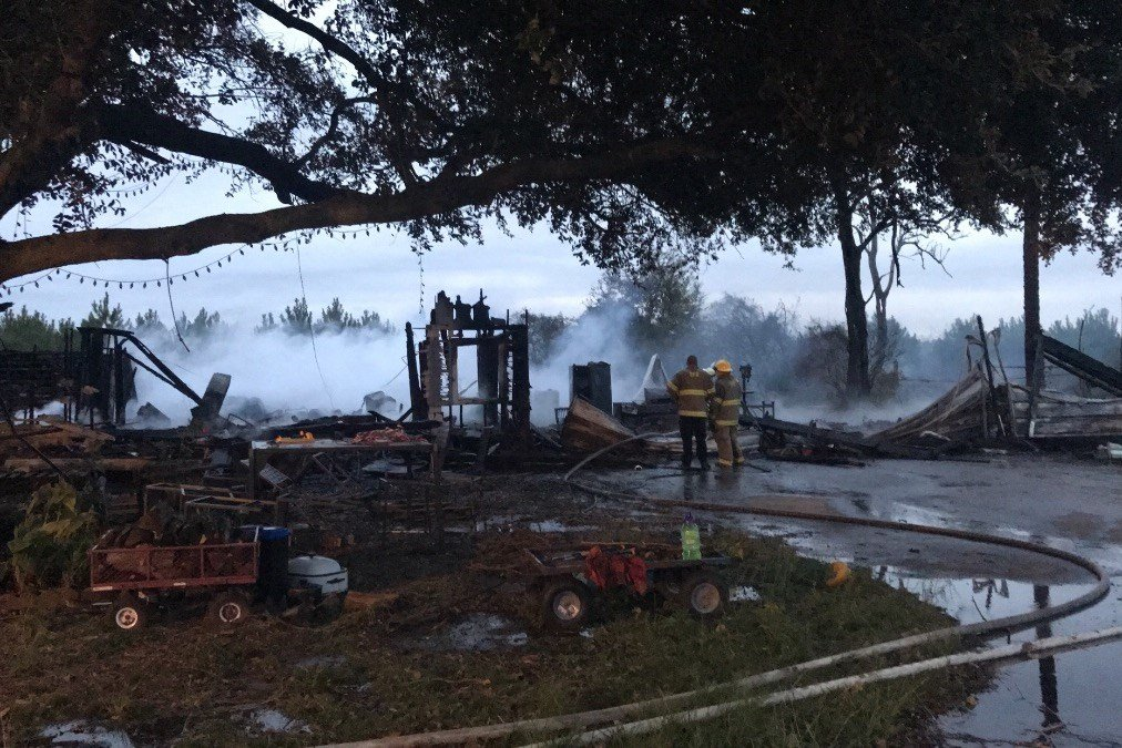Fire destroys family's home in Eunice / Courtesy: Heather Arcemont