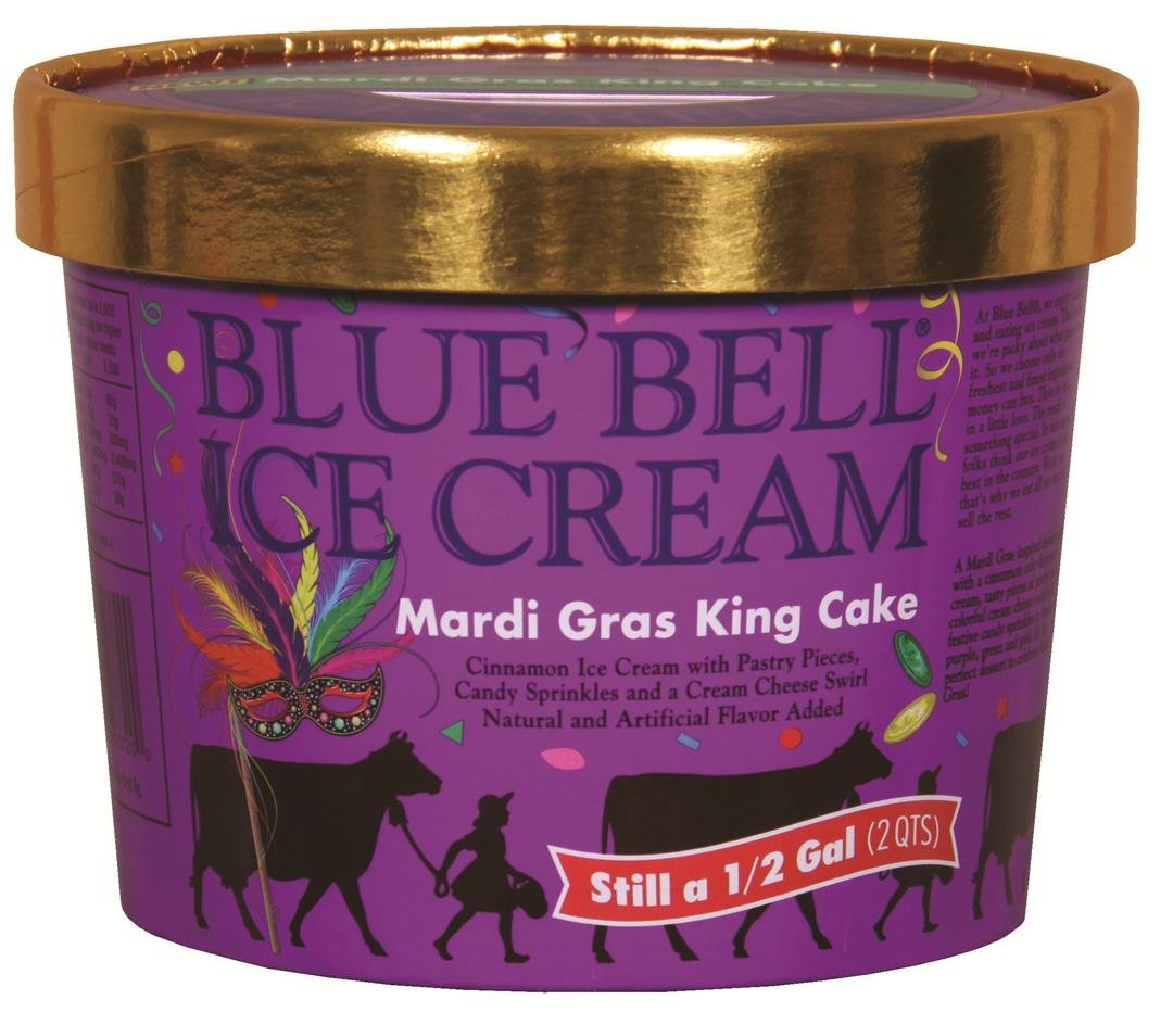 Mardi Gras King Cake icecream / Blue Bell