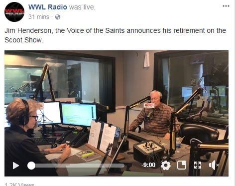 Image from WWL Radio