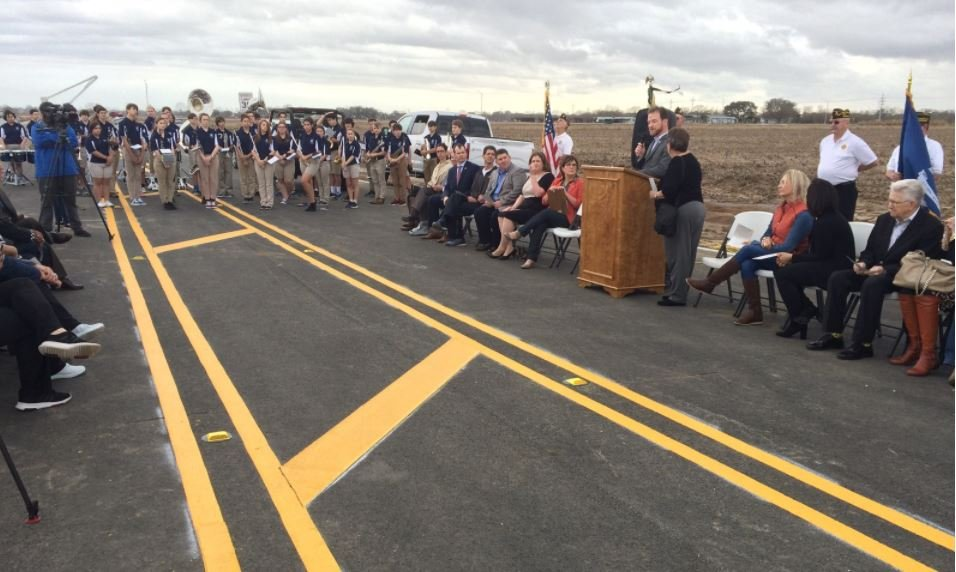Road Dedication ceremony in Youngsville / KATC