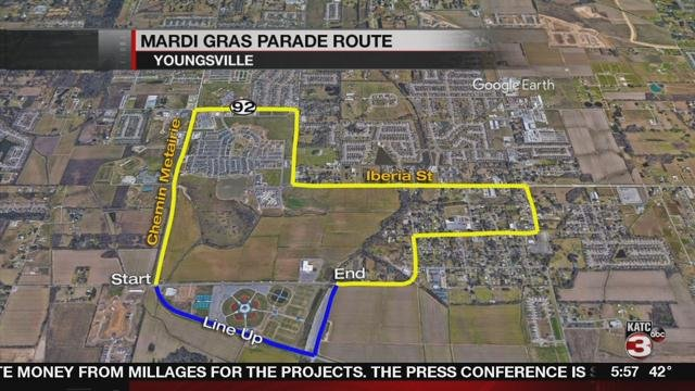 The new parade route