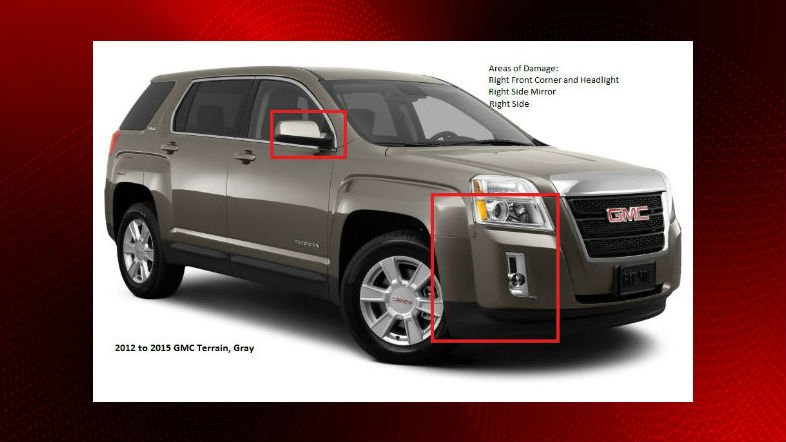 Troopers search for suspect vehicle in fatal hit-and-run (The vehicle pictured is not an exact match to the color of the suspect vehicle.) / Courtesy: Louisiana State Police Troop A