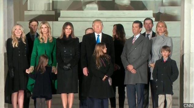 Vanessa Trump, far right