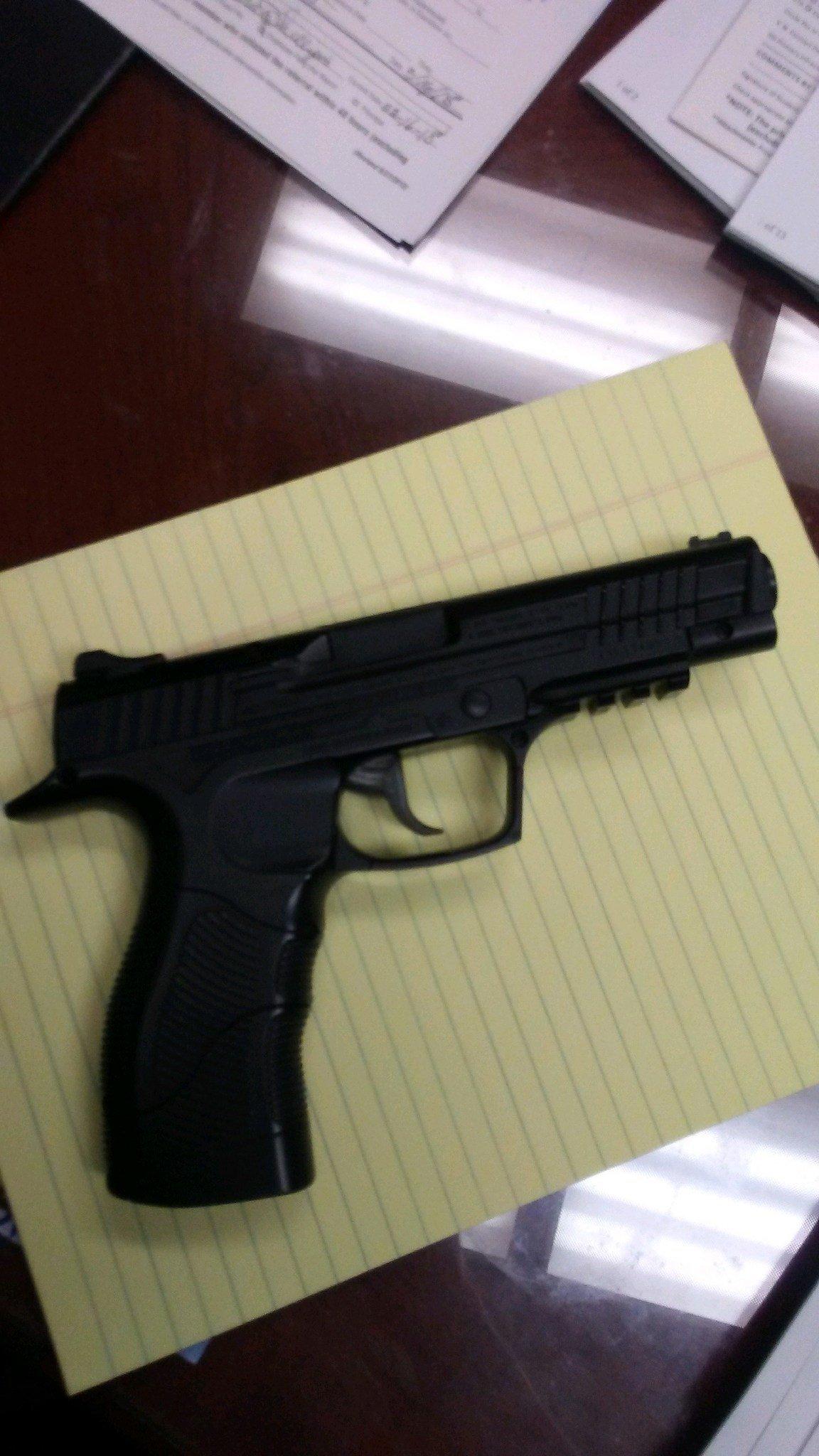Pellet gun found in backpack (PHOTO: RPSO)