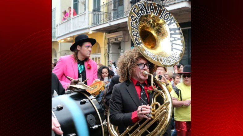 Photo of the Preservation Hall sousaphone / The Advocate