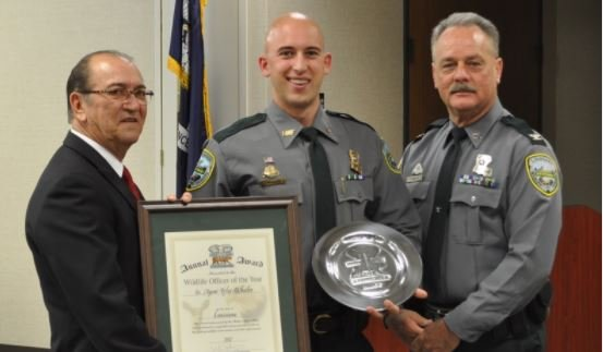 LDWF agent Tyler Wheeler receives Conservation Officer of the Year award in Baton Rouge / LDWF