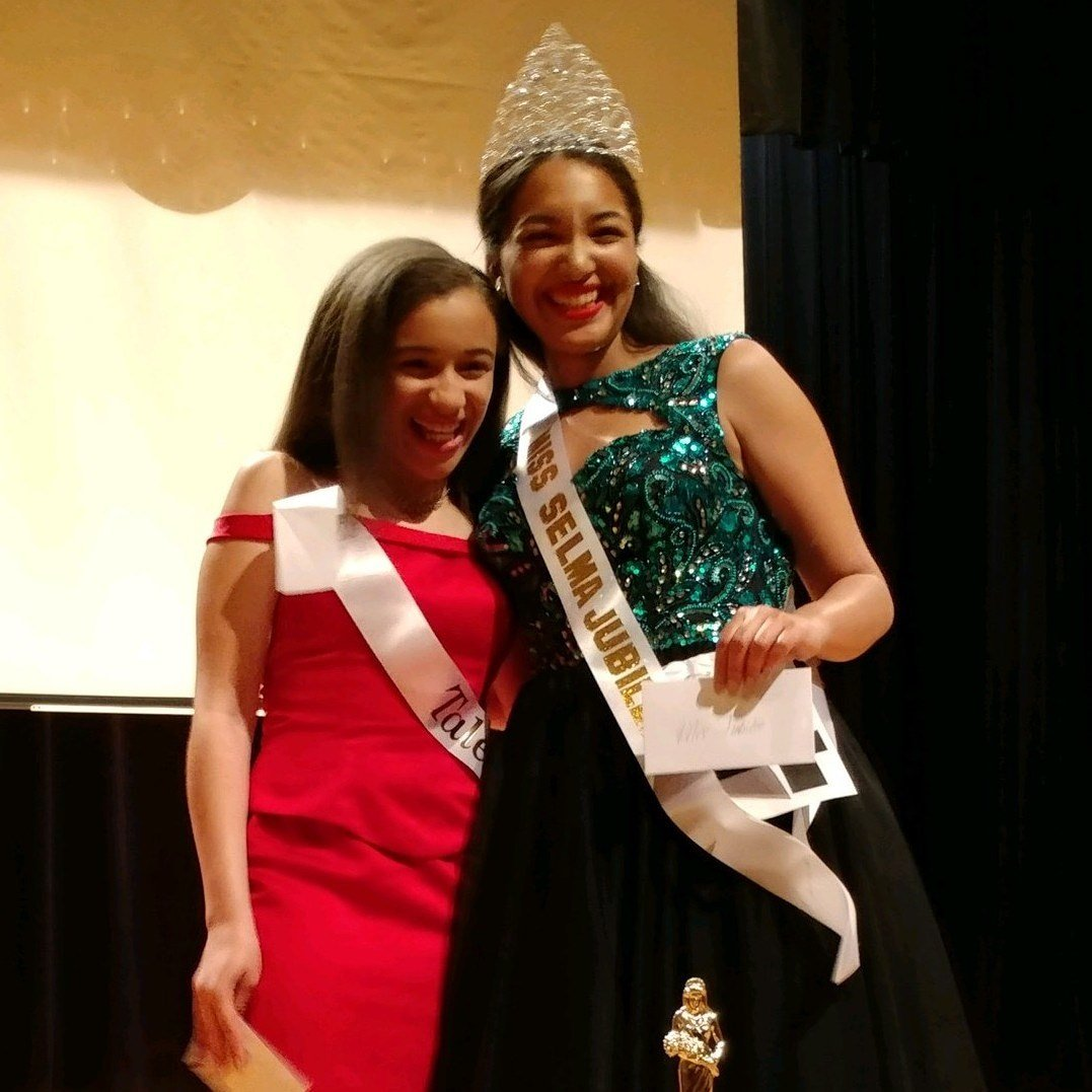 Kailon Babineaux (right) was crowned the 2018 Miss Jubilee Pageant Queen, and her sister, Kamryn (left), won the talent portion of the pageant/ Courtesy: Brenda Andrus