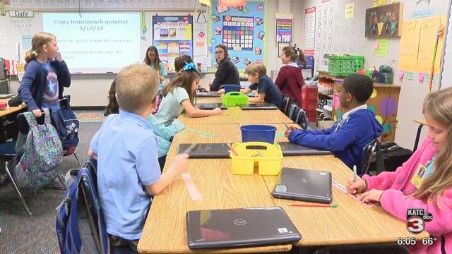 File photo of students at J. Wallace James Elementary School