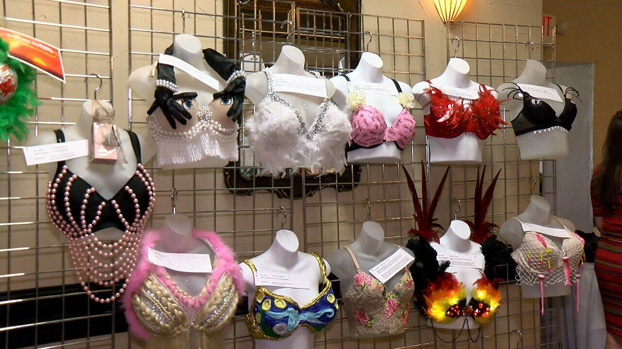 Bras from Cancer survivors decorated for the Zonta Club's Annual Save ze Ta Ta'z fundraiser / KATC