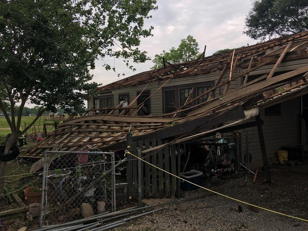 Opelousas family loses home in early morning storms