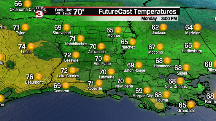 Cold front to bring cool temperatures, breezy winds