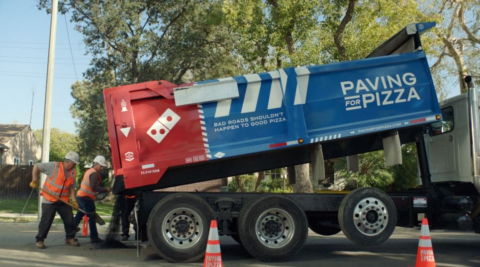 Domino's is helping fix potholed roads so your pizza stays ideal