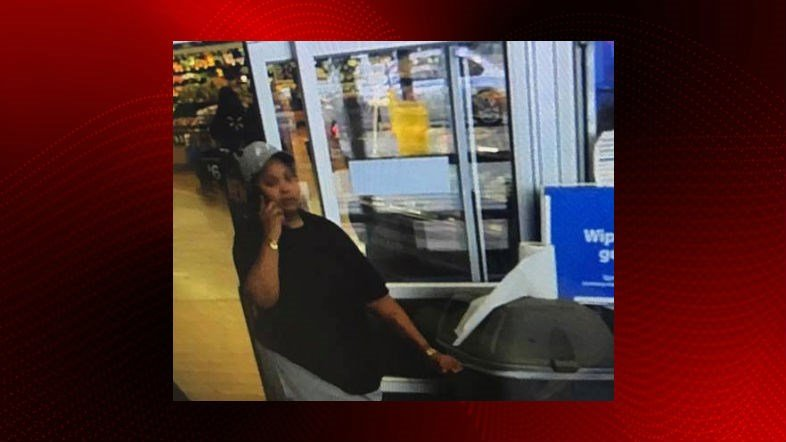 Broussard police are searching a woman who allegedly stole another woman's purse from a car.