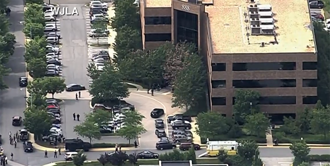 Police Vehicles Respond to Capital Gazette Shooting in Annapolis