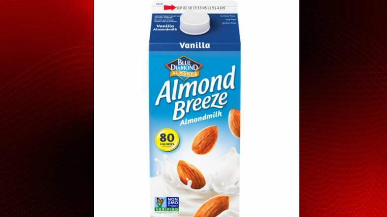 Almond milk containing real milk recalled
