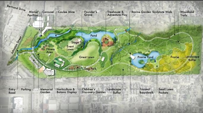 Lafayette Central Park rendering