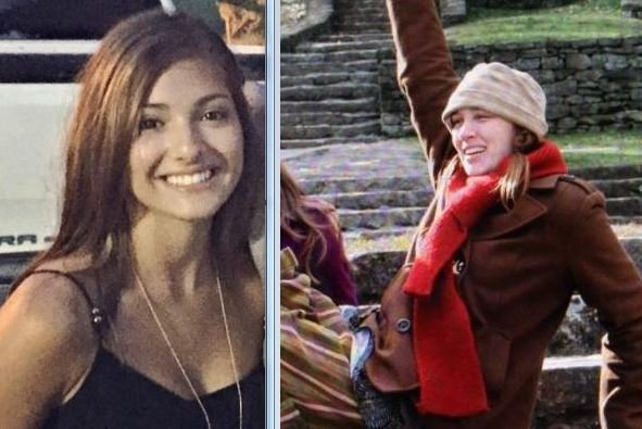 Mayci Breaux, left, and Jillian Johnson