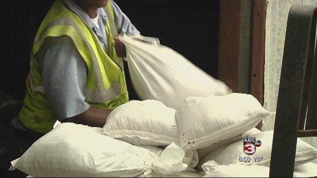 Residents should be prepared to fill their own sand bags.