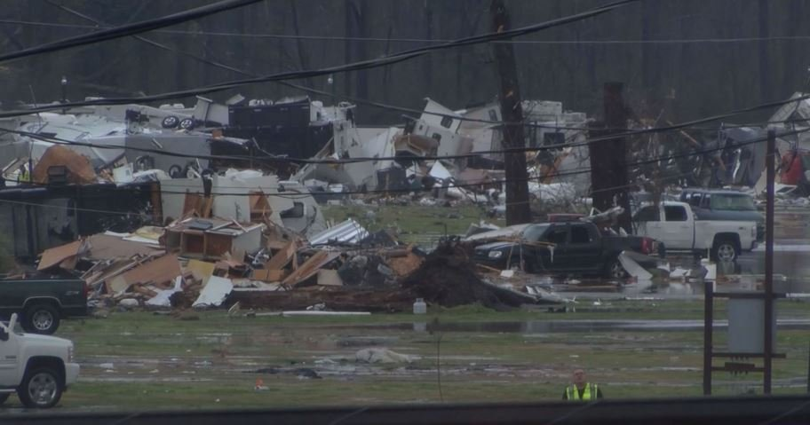 Storms hit the South, causing death and damage