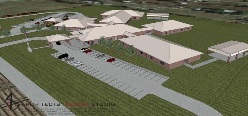 PLAN FOR NEW IBERIA SCHOOL
