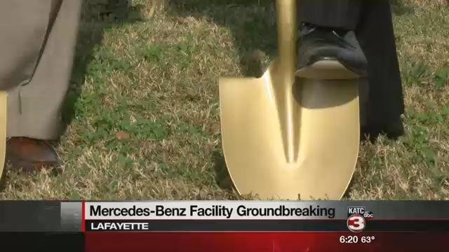 Moss motors breaking ground on new mercedes benz facility for Moss mercedes benz lafayette la