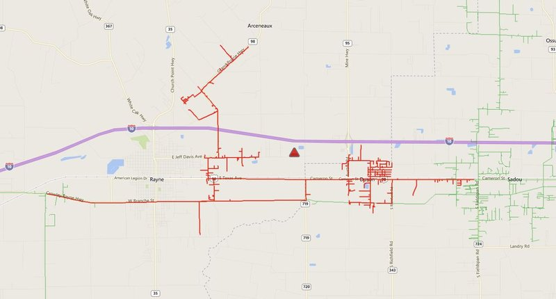 UPDATE: Power out in the Rayne/ Duson area - KATC.com | Continuous on utility outage map, entergy transmission line map, mississippi entergy outage map, comcast outage map, entergy louisiana, entergy substation map, duke energy outage map, entergy arkansas, entergy texas outage, entergy outage update,