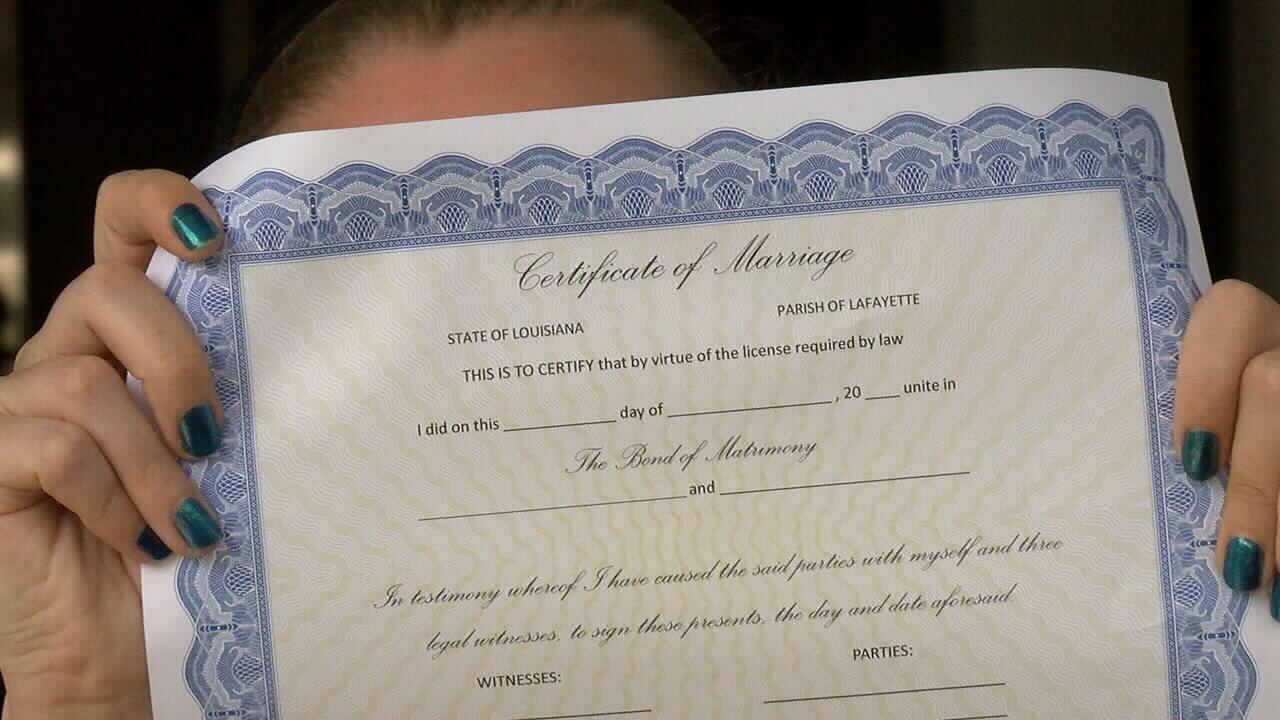 louisianas views on same sex marriages