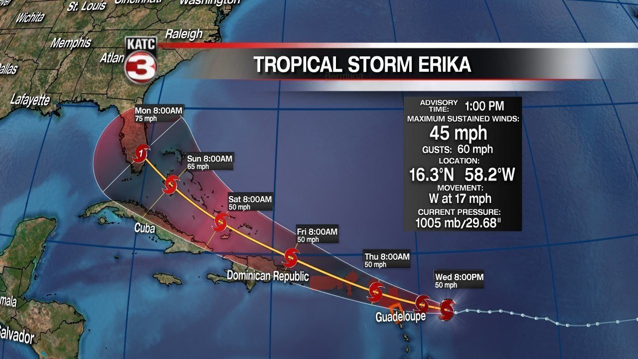 Erika afternoon update katc com continuous news coverage